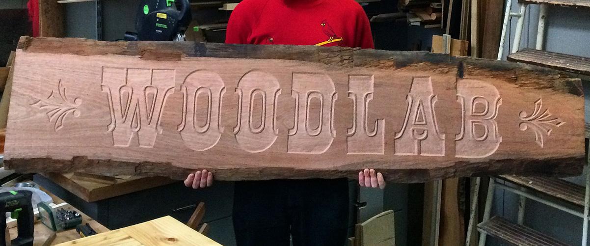 Enseigne Woodlab Gravure sur Bois
