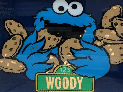Cookie monster dorure sous verre